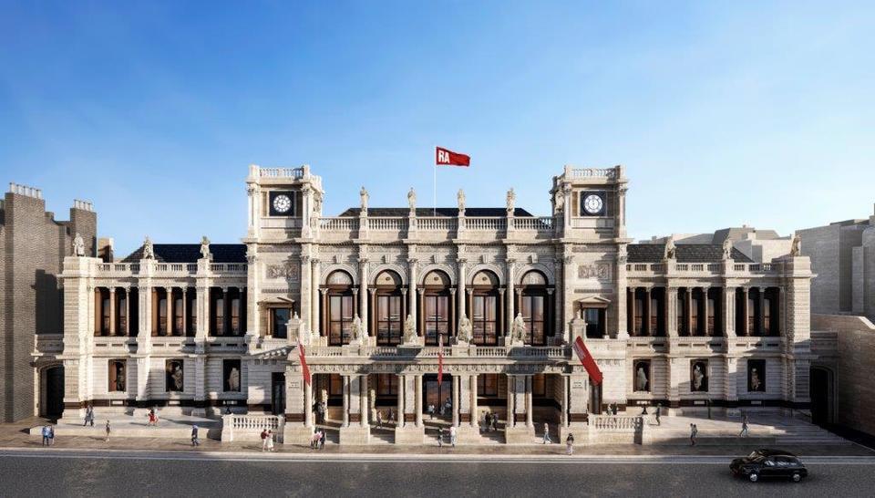 Фасад здания Королевской академии искусств в Лондоне