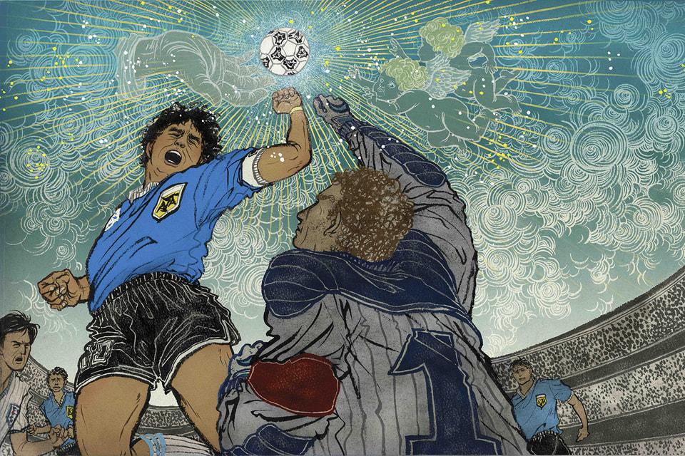 Юко Шимизу. Maradona hand of god