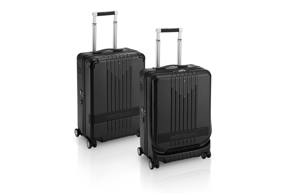 Оригинальный рифленый узор лицевой стороны чемоданов напоминает знаковый дизайн Montblanc M