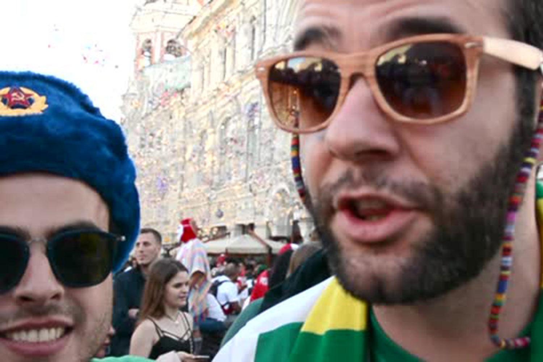 Фанаты – в центре Москвы