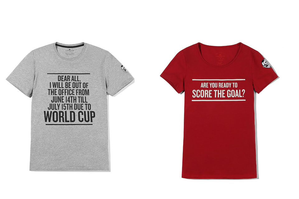 Свитшоты и футболки капсульной коллекции Tom Tailor украшают оригинальные мотивационные надписи