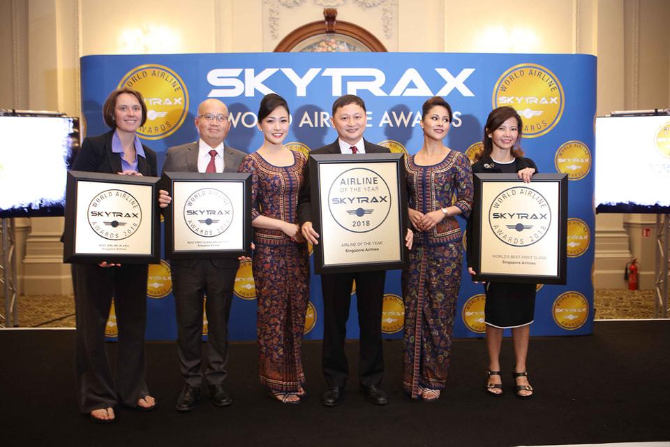 «Сингапурские Авиалинии» признаны лучшей авиакомпанией мира по версии World Airline Awards в номинациях«Лучший Первый класс в мире», «Лучшая авиакомпания Азии» и  «Лучшие кресла салона Первого класса»