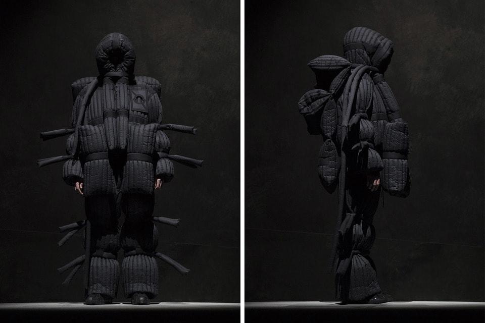 Пальто  Moncler Craig Green авангардного дизайнера Крекга Грина рассказывает об отношениях одежды и телесности