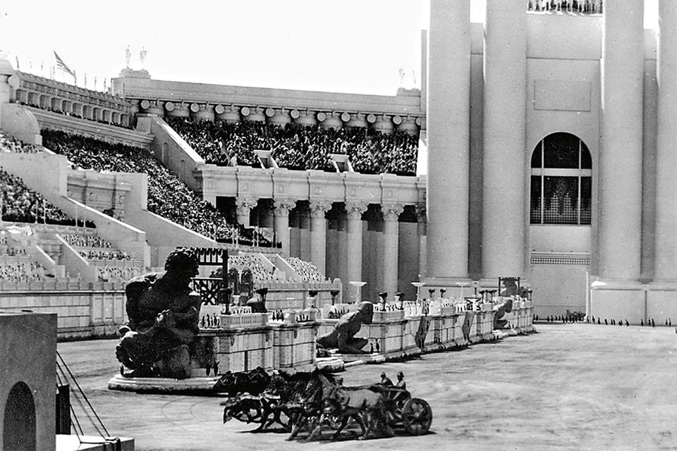 Кадр из фильма «Бен-Гур» 1925 года: съемки проводились на римской киностудии Cinecittà