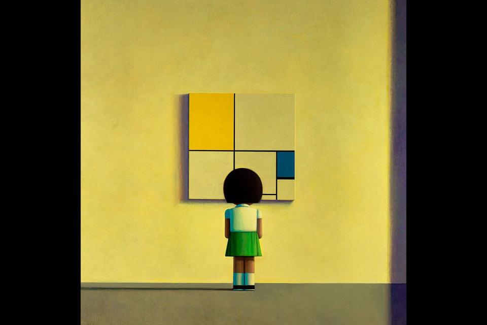 Тема творчества Пита  Мондриана часто встречается в работах китайского художника Лиу Йе