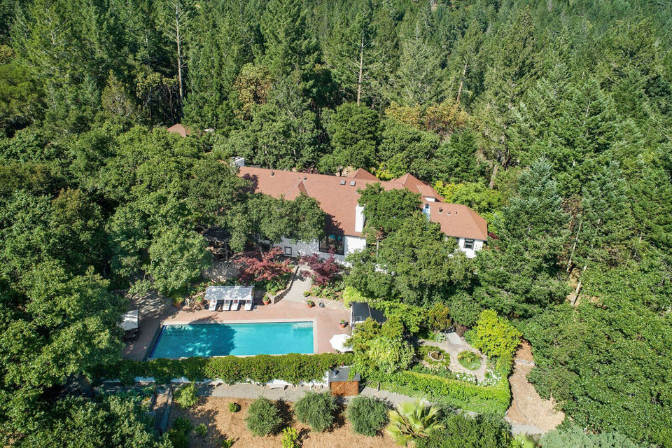 Вид на поместье  Роберта Редфорда с высоты птичьего полета