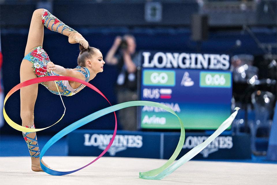 Выступление гимнастки Арины Авериной, посланницы элегантности Longines
