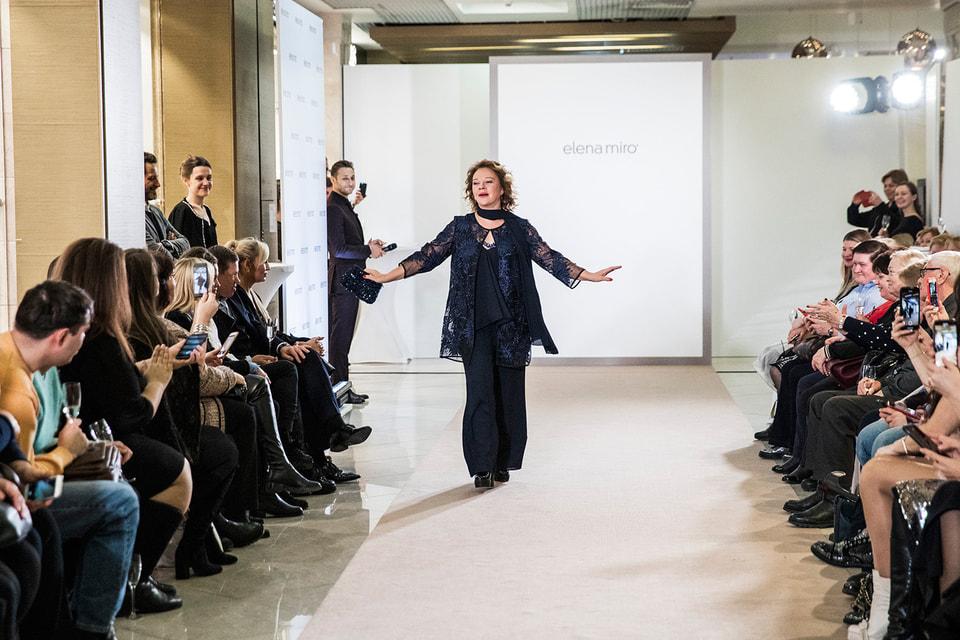 По случаю открытия флагманского бутика Elena Mirò там  же  состоялся модный показ весенне-летней коллекции 2019.
