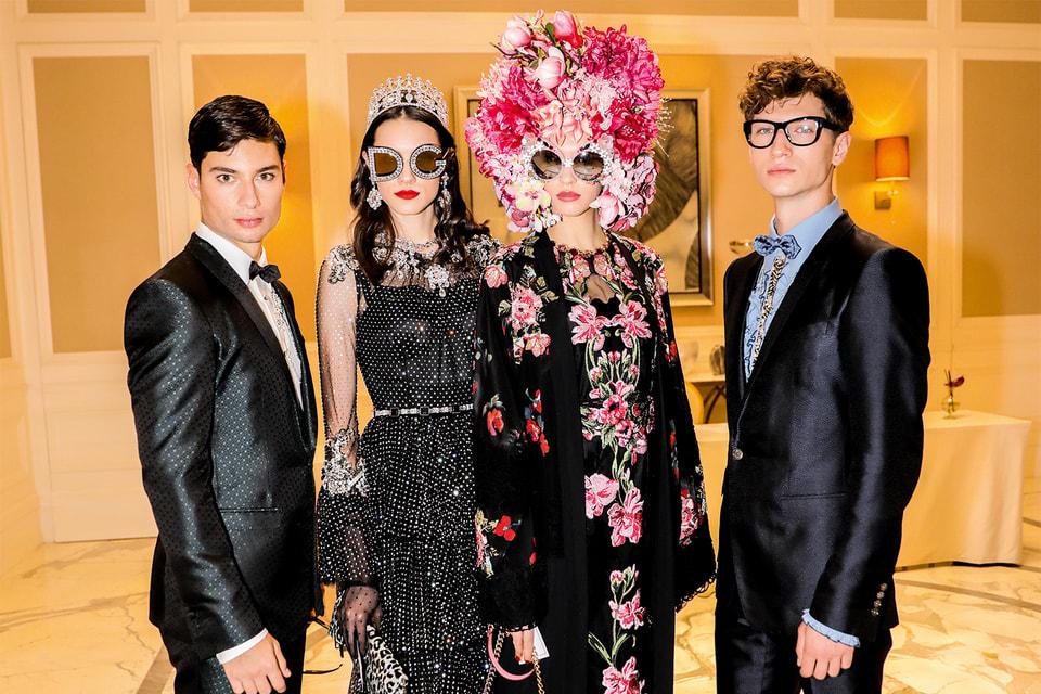 Образы из коллекции Dolce & Gabbana, созданной для показа в Дубае