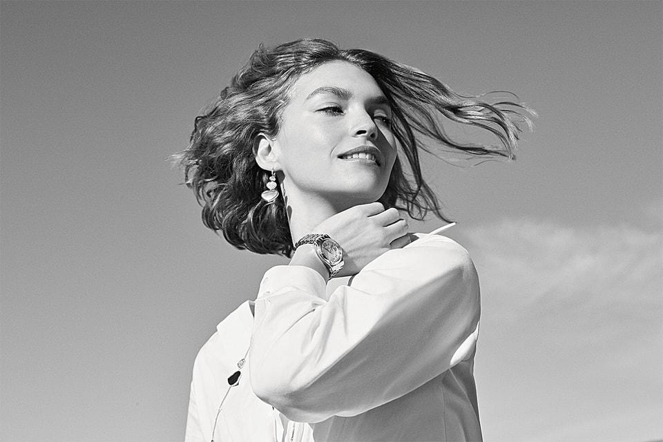 Посол бренда модель Аризона Мьюз в часах Happy Sport от  Chopard