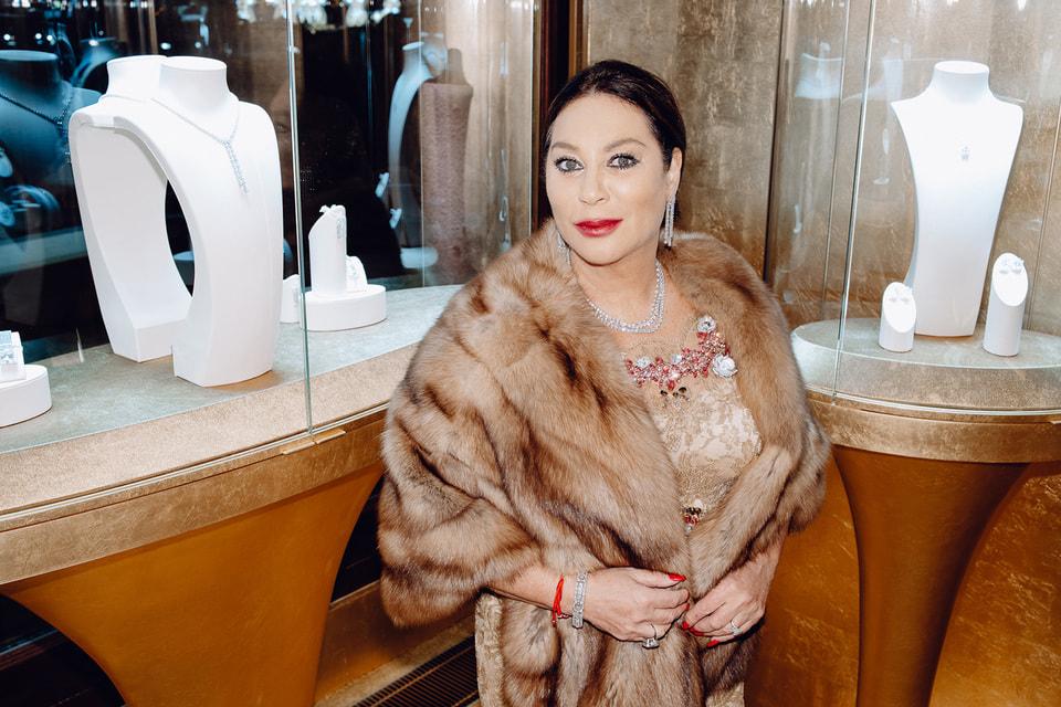 Вице-президент Mercury и fashion-директор ЦУМа Алла Вербер в ювелирных украшениях Mercury