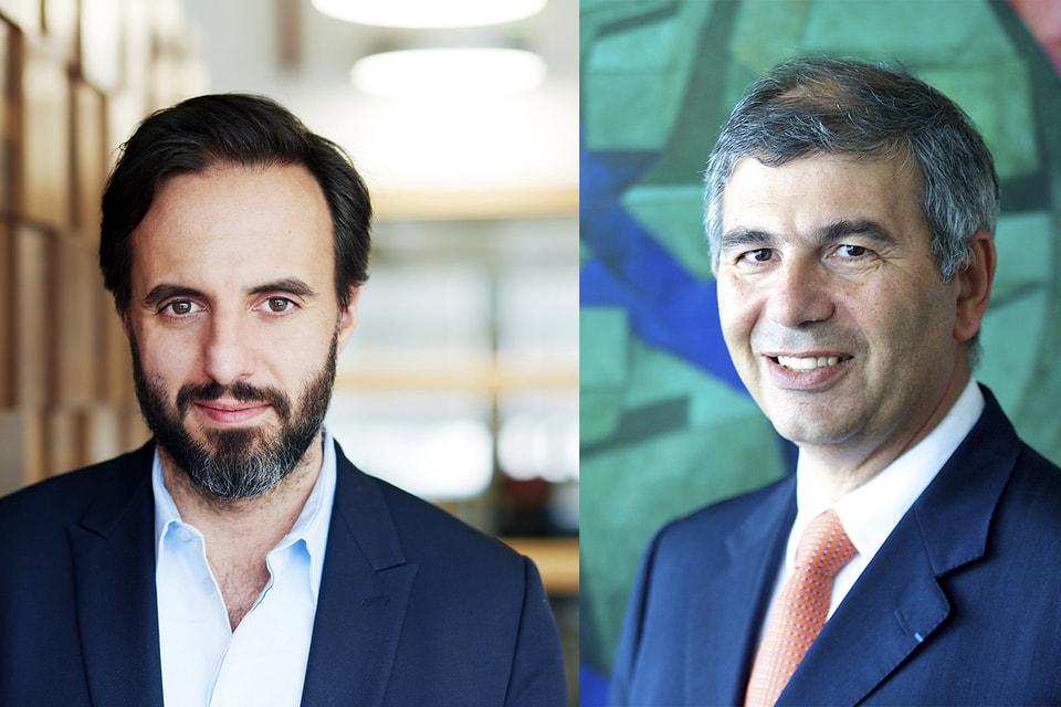 Жозе Невеш, основатель и CEO Farfetch и Патрик Шалуб, CEO Chalhoub Group