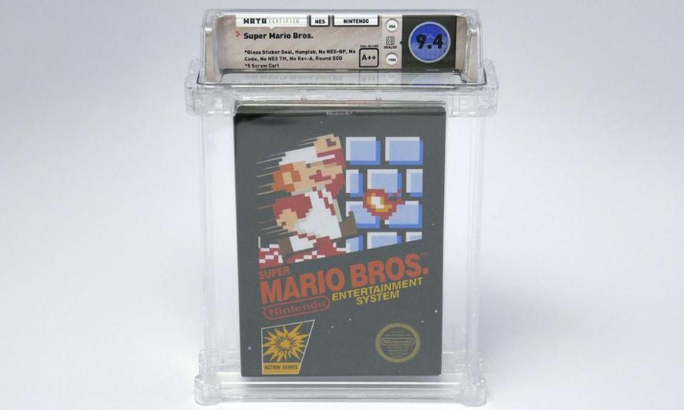 Оригинальная невскрытая копия Super Mario Bros.