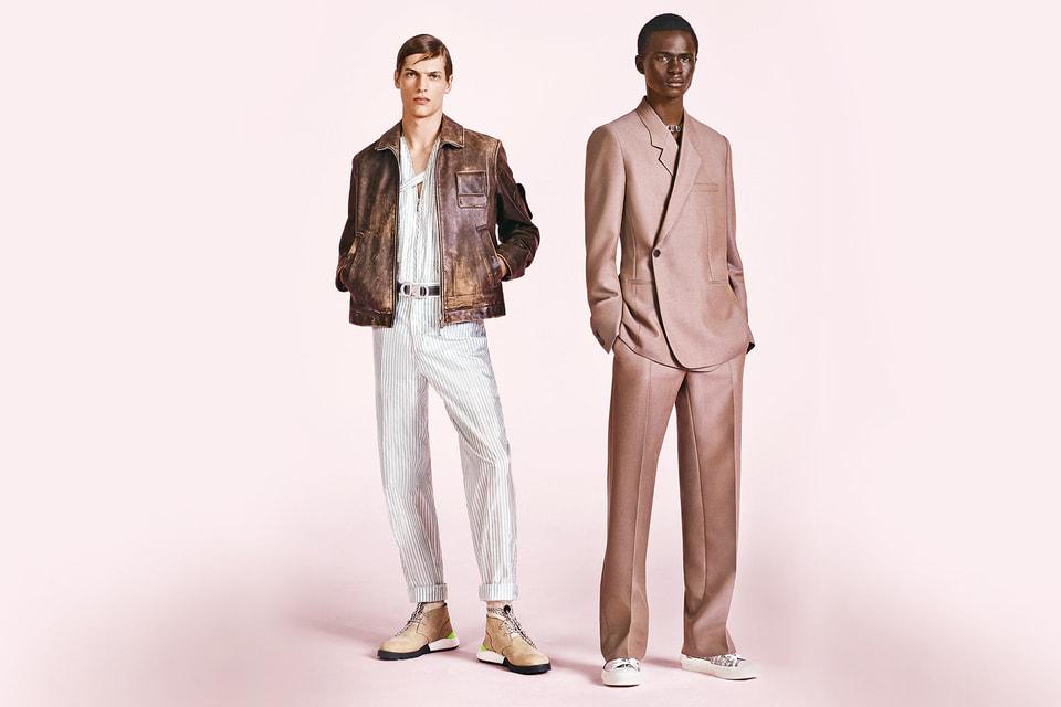 Винтажного толка кожаные куртки в коллекции соседствуют с пиджаками Oblique с асимметричной планкой