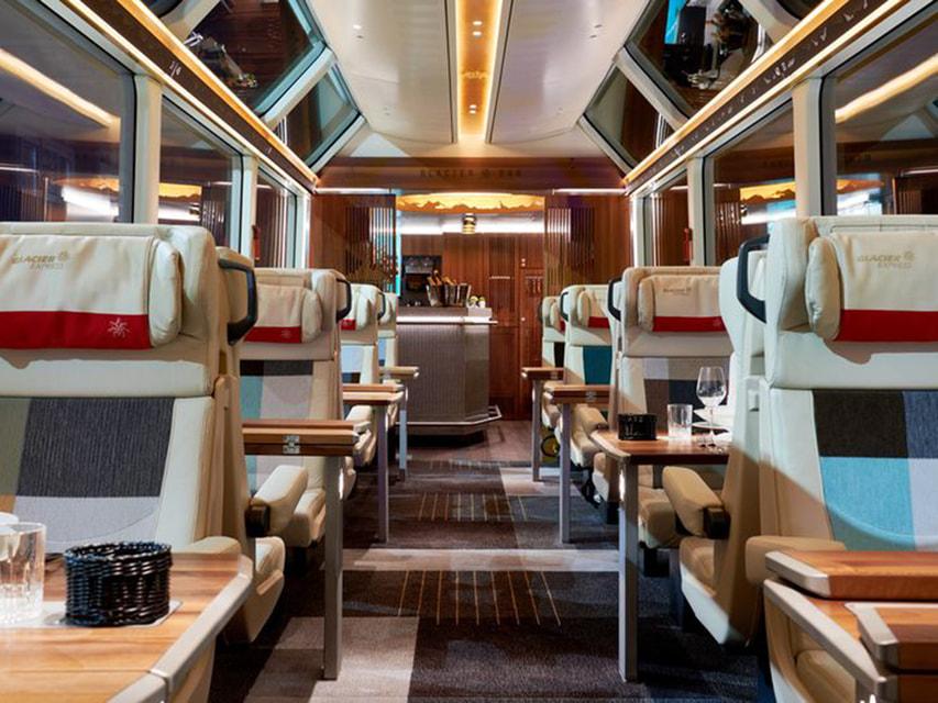 Так выглядит новый премиальный панорамный вагон знаменитого поезда Glacier Express