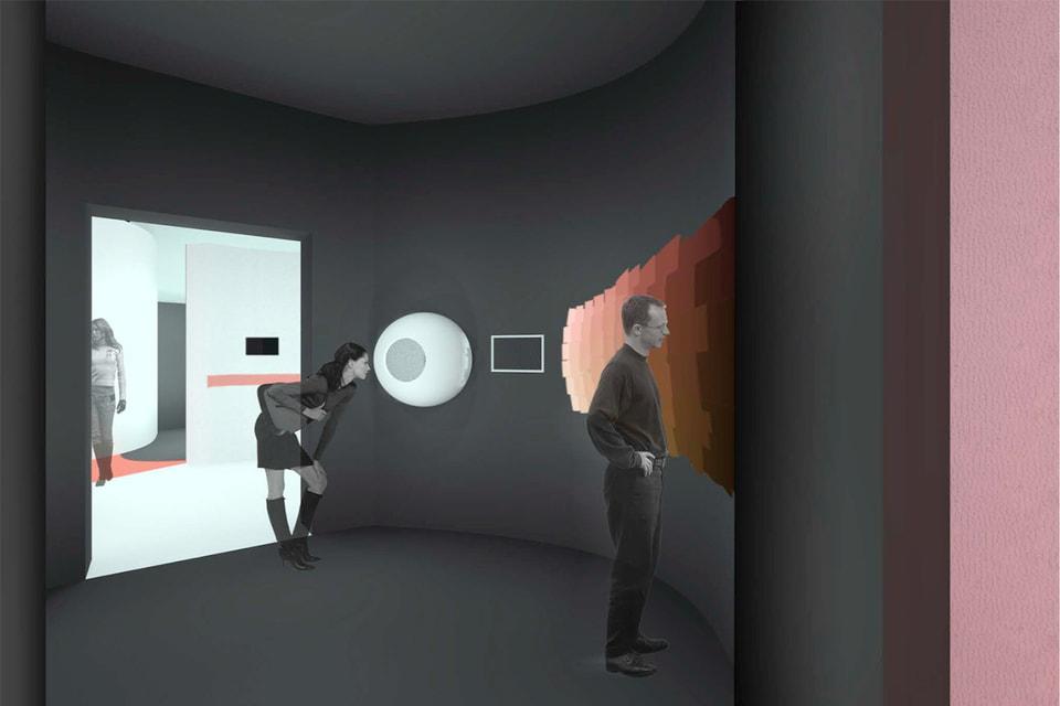 Мультимедийное пространство выставки   Dans Ma Peau