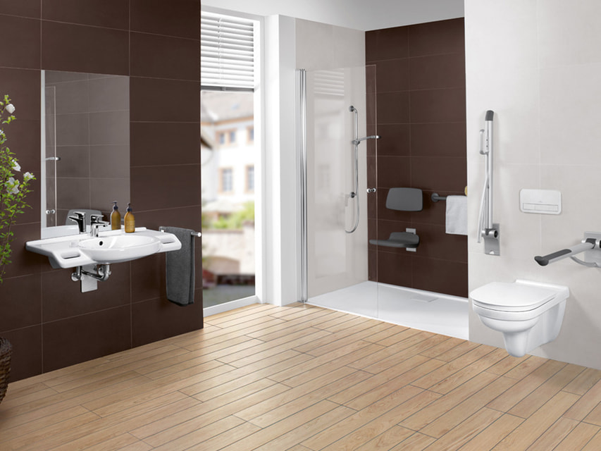 В ванной ViCare человеку с ограничнными возможностями будет удобно и безопасно