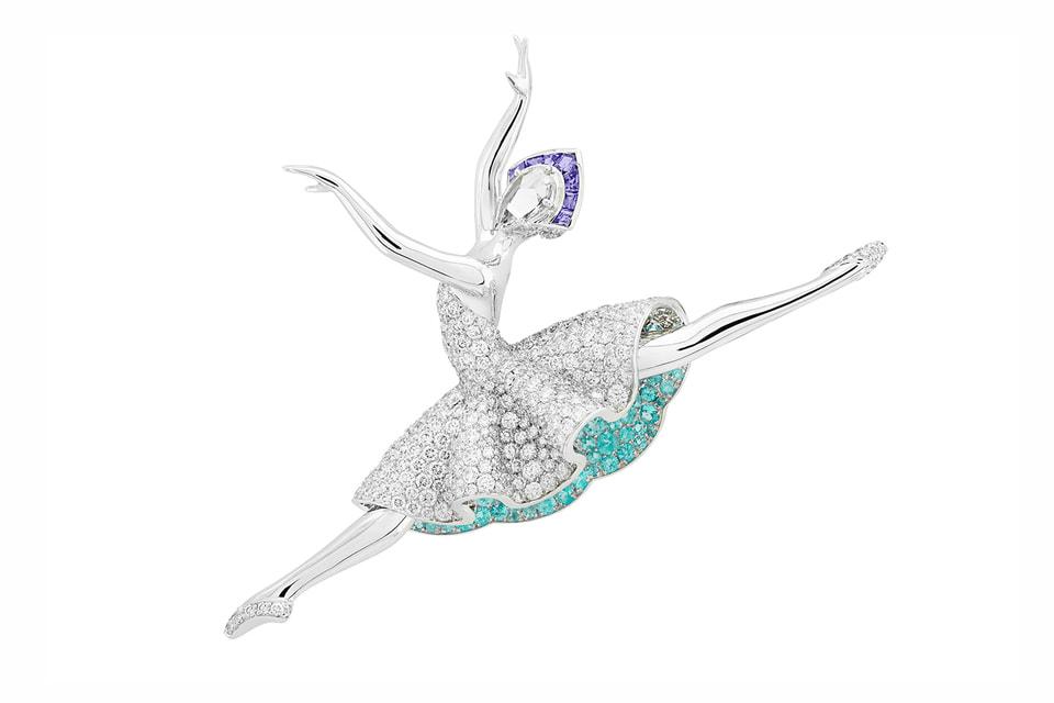 Брошь Gisele из коллекции Van Cleef & Arpels: ни одна из таких драгоценных балерин не повторяет другую