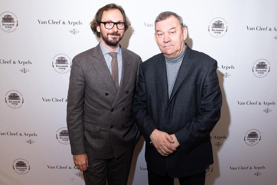 Николя Бос, президент и креативный директор  Van Cleef & Arpels, и Владимир Урин, генеральный директор ГАБТ России, официально объявили о сотрудничестве