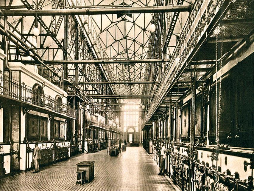 Историческое фото ГЭС-2. Электростанция работала с 1907 по 2015 гг