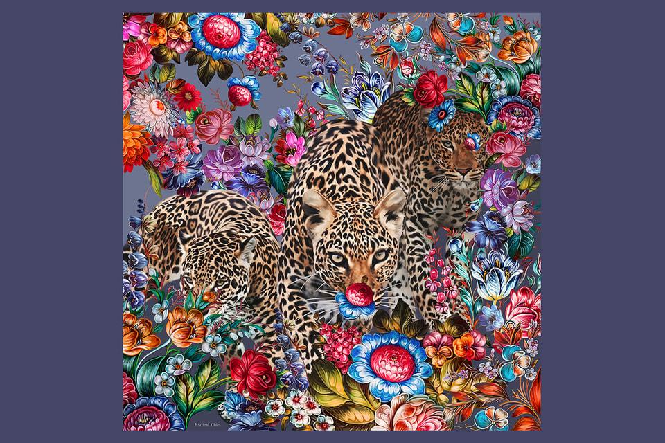 Жостовские цветы и дикие животные: современное прочтение старинных росписей в новой коллекции  Radical Chic
