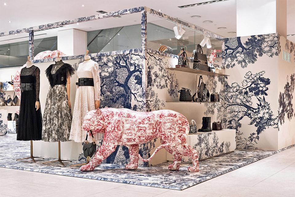 Временный магазин Dior, посвященный круизной коллекции и орнаменту Toile de Jouy