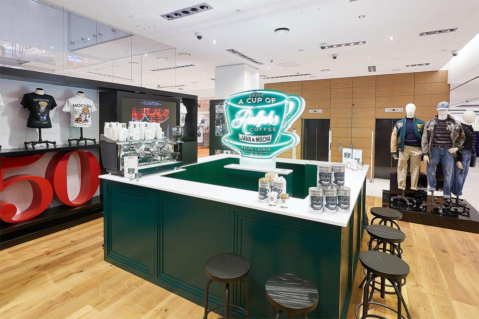 Магазин-кофейня в ЦУМе, открытый в честь 50-летия Ralph Lauren