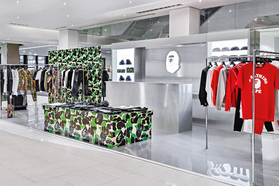 Поп-ап японского streetwear-бренда Bape в ЦУМе