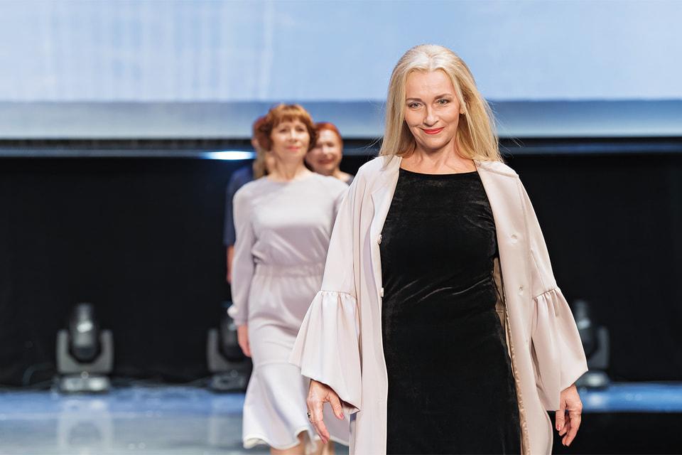 Участницы российского «Подиума зрелой красоты»