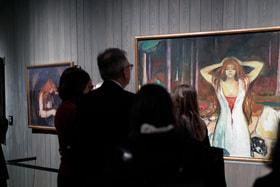 Более 60-ти  живописных работ, 37 графических произведений, 14 фотографий, а также мемориальные предметы и документы – на выставке «Эдвард Мунк» в Третьяковской галерее