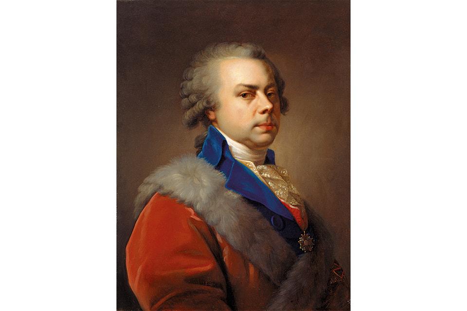Портрет Николая Юсупова работы неизвестного художника с оригинала И. Б. Лампи