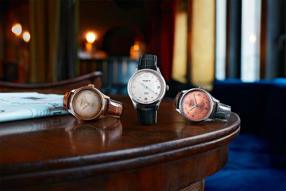 Хронографы из новой коллекции Heritage в корпусе 40 мм с калибром MB 24.27 и с тремя цветами циферблатов, в том числе и с лососевым