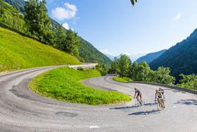 Фрагмент маршрута на Альп д'Юэз, Франция