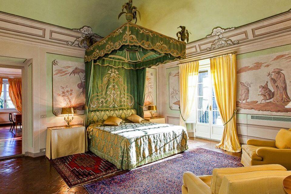 Одна из спален в Villa Le Rose