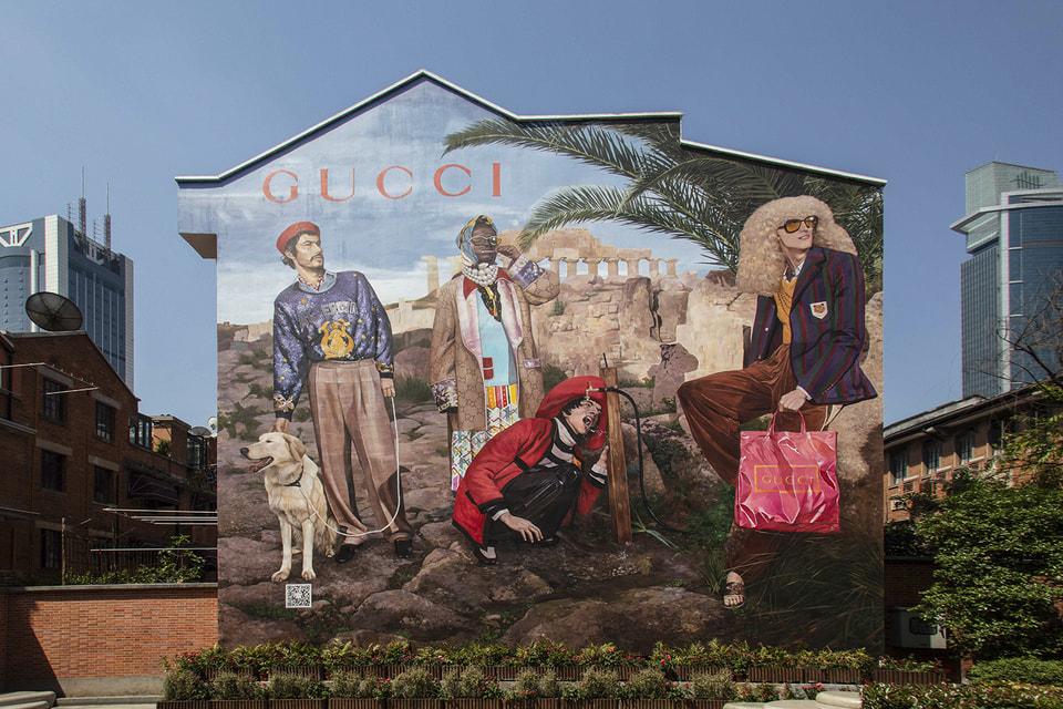 Арт-стены Gucci появились по всему миру