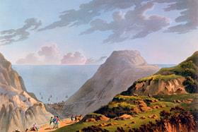Литография «Вид на Джеймстаун» (примерно 1821 год, автор неизвестен)