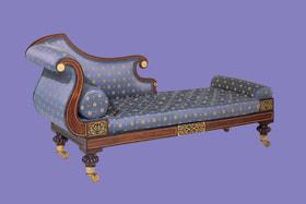 Кушетка в античном стиле, США, XIX век