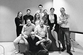 Гендиректор АО «Соцмедика» Геворг Бледжянц с коллективом участников проекта «Гиппократ»
