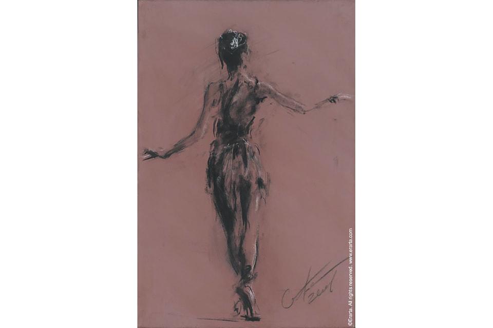 Репродукция картины «Спина. Катерина» Сергея Бакина, принт, холст