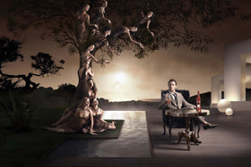 Актер Джуд Лоу в рекламной кампании Martini прошлых лет