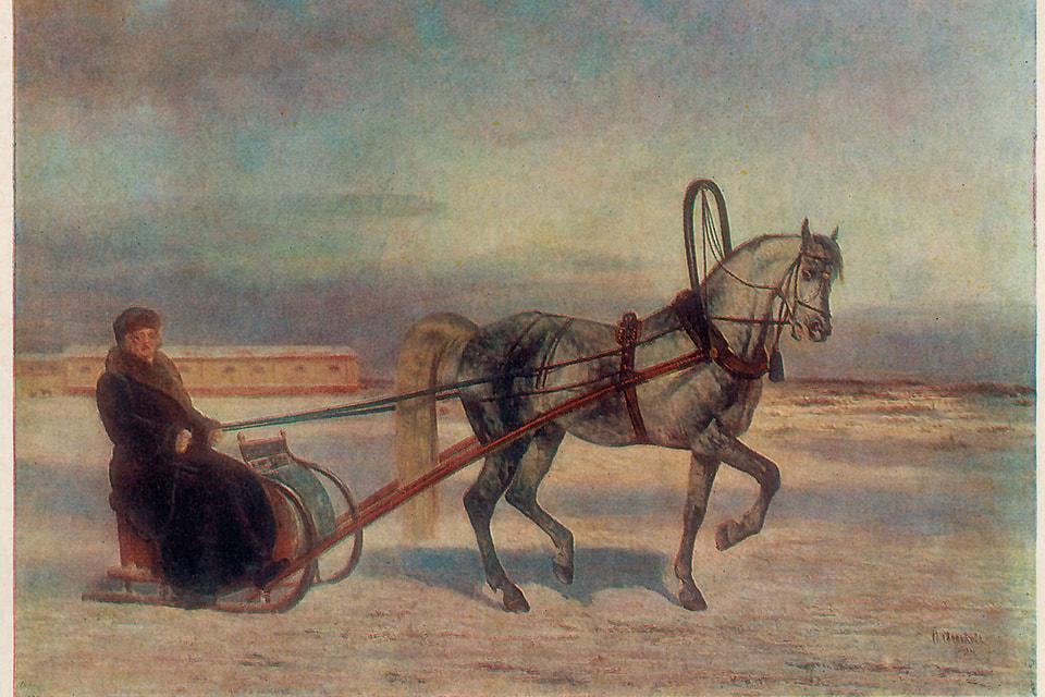 Картина Н. Е. Сверчкова «Граф А. Г. Орлов-Чесменский на Барсе»