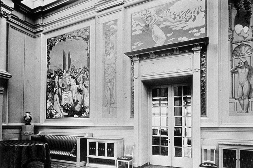 Панно из серии «История Психеи» Мориса Дени в музыкальном зале особняка
