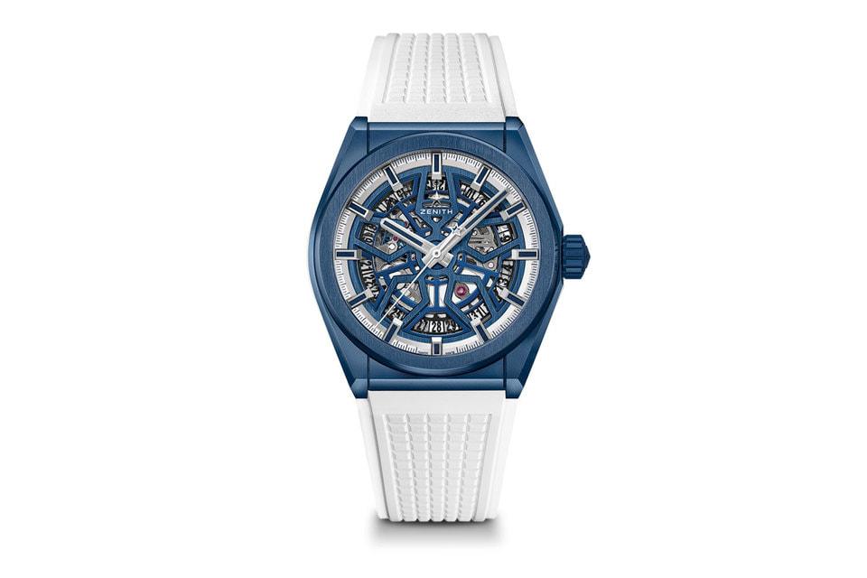 Часы Defy Classic Mykonos Edition выпущены в количестве всего 25 экземпляров и имеют два сменных каучуковых решешка – белый и синий