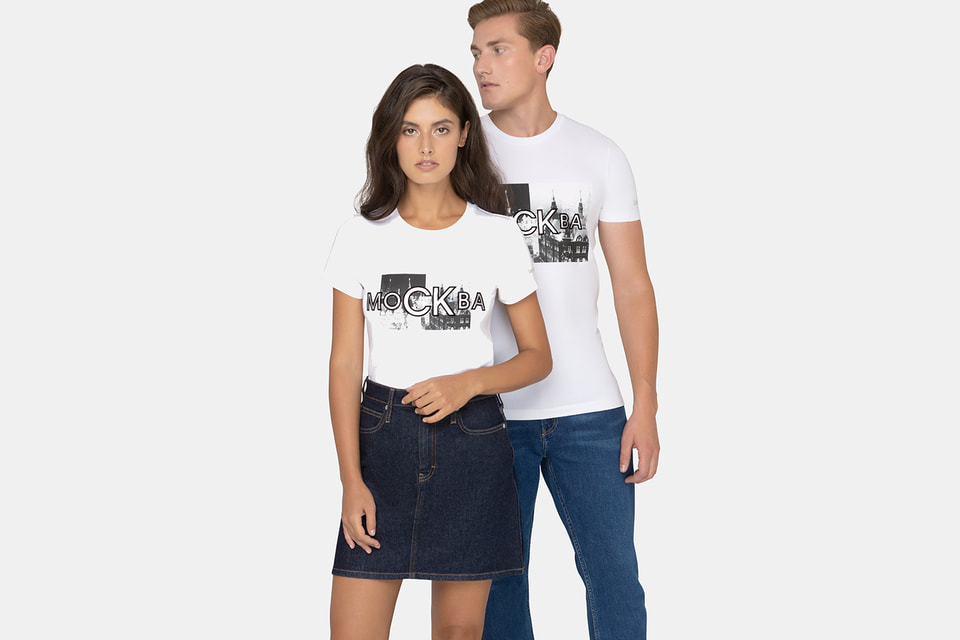 Новая коллекция Calvin Klein Jeans посвящена Москве и продается в ГУМе