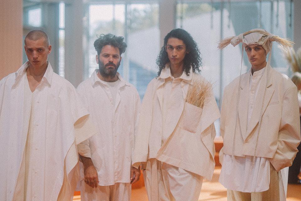 Дизайнер Хед Майнер из Израиля (второй слева), обладатель специального приза Karl Lagerfeld Prize