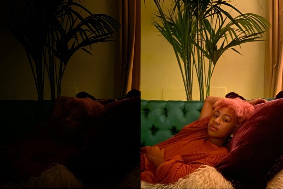 Пример съемки без Ночного режима и с ним