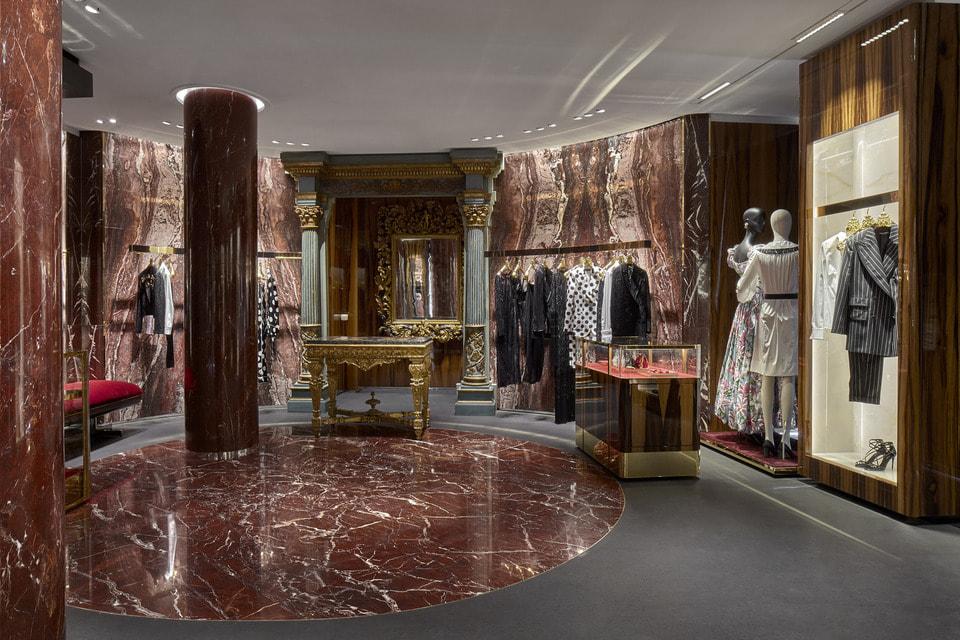 Интерьер флагманского бутика Dolce & Gabbana в Милане