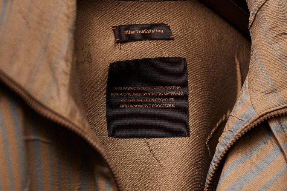 Пиджак Use the Existing, сшитый из ранее используемой ткани, осень-зима 2019/20