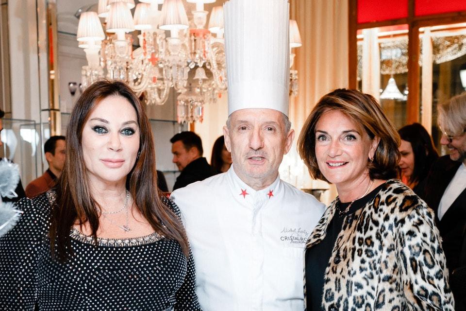 Алла Вербер с генеральным директором Maison Baccarat Даниэлой Рикарди на праздновании 10-летия присутствия Baccarat в России