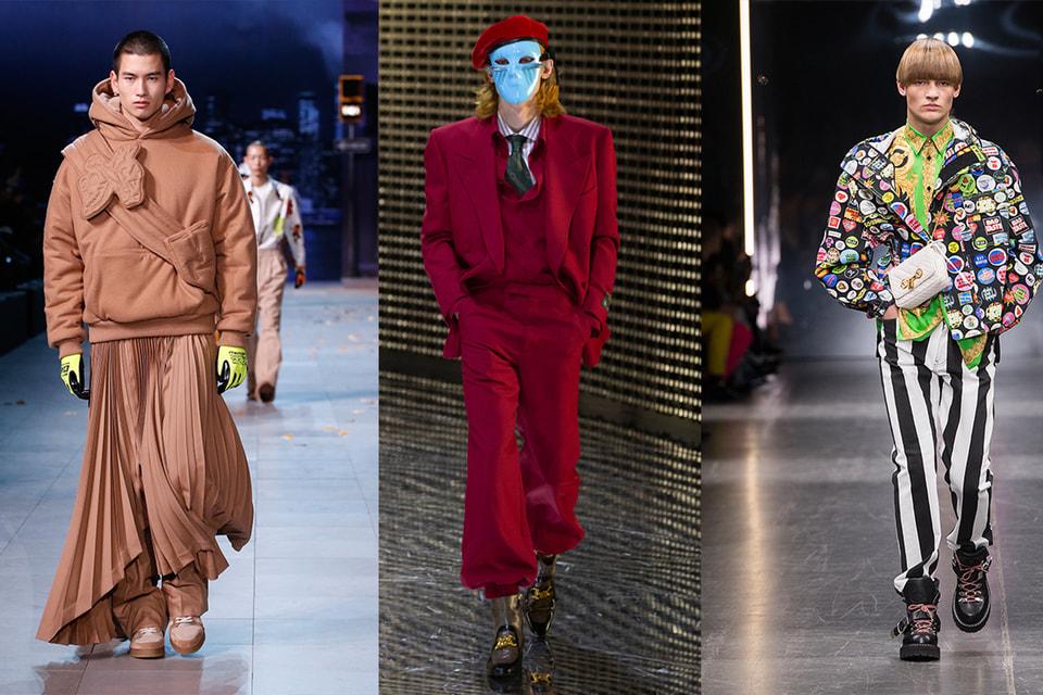 Модные образы, стирающие гендерные границы, в коллекциях Louis Vuitton, Gucci, Versace, осень-зима 2019/20